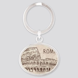 Rome Oval Keychain