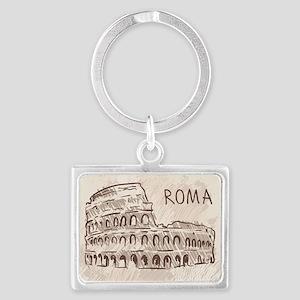 Rome Landscape Keychain