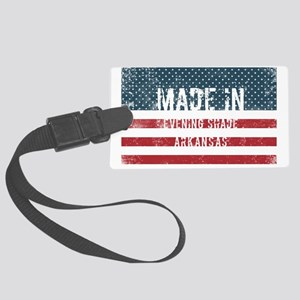 Made in Evening Shade, Arkansas Large Luggage Tag