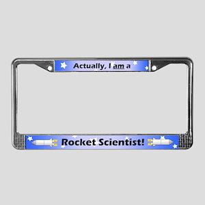 Rocket Scientist License Plate Frame