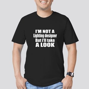 I Am Not Lighting desi Men's Fitted T-Shirt (dark)