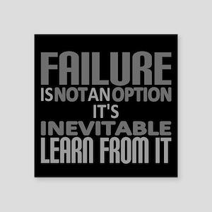Failure Not Option Learn Sticker