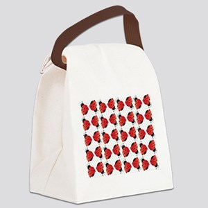 Cute Ladybugs Canvas Lunch Bag