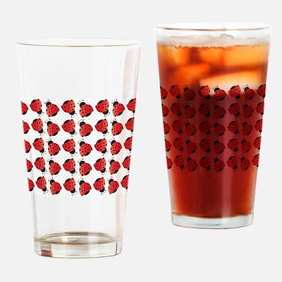 Cute Ladybugs Drinking Glass