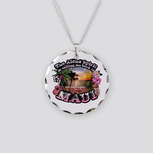 Necklace Circle Charm Maui Aloha Spirit