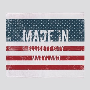 Made in Ellicott City, Maryland Throw Blanket
