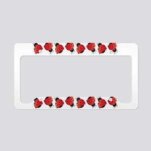 Cute Ladybugs License Plate Holder