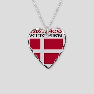 Bedstemors Kitchen Apron Necklace Heart Charm