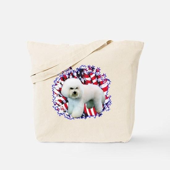 Bichon Patriot Tote Bag