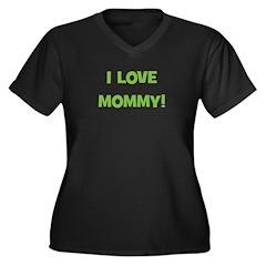 I Love Mommy (green) Women's Plus Size V-Neck Dark