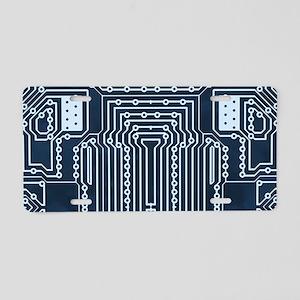 Blue Geek Motherboard Circu Aluminum License Plate