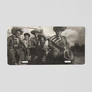 Mexican Gentlemen Aluminum License Plate