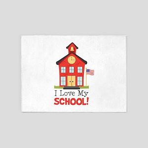 I Love My School! 5'x7'Area Rug
