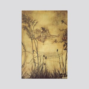 Fairy's Tightrope by Arthur Rackh Rectangle Magnet