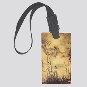 Fairy's Tightrope by Arthur Rack Large Luggage Tag