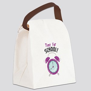 Time For School! Canvas Lunch Bag