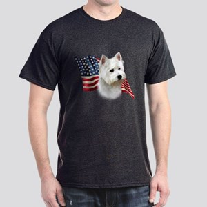 Westie Flag Dark T-Shirt