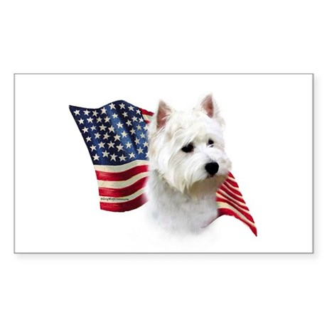 Westie Flag Rectangle Sticker