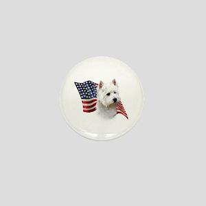 Westie Flag Mini Button