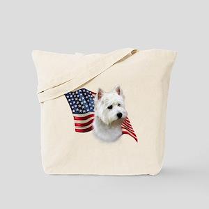 Westie Flag Tote Bag