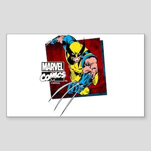 Wolverine Square Sticker (Rectangle)