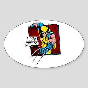 Wolverine Square Sticker (Oval)