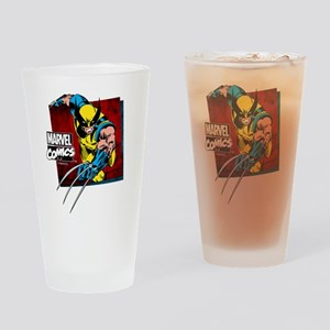 Wolverine Square Drinking Glass