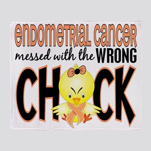 - Messed With Wrong Chick Endometria Throw Blanket