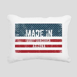 Made in Fort Huachuca, A Rectangular Canvas Pillow