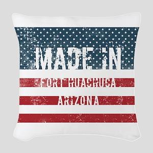 Made in Fort Huachuca, Arizona Woven Throw Pillow