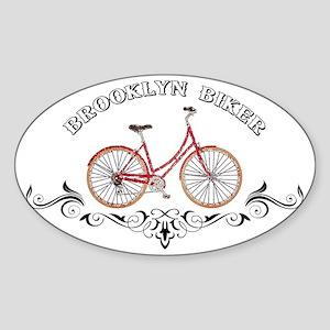 Brooklyn Biker Sticker (Oval)