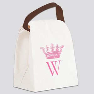 Vintage Crown Monogram Canvas Lunch Bag