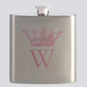 Vintage Crown Monogram Flask