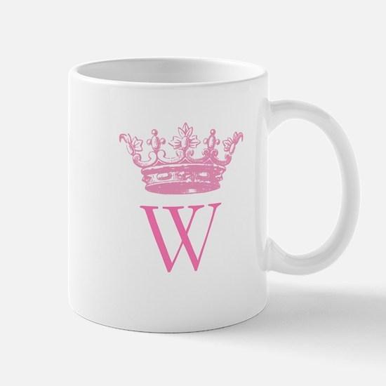 Vintage Crown Monogram Mugs