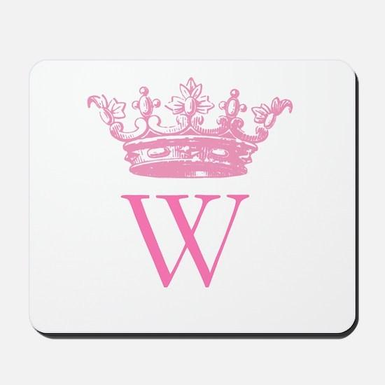 Vintage Crown Monogram Mousepad