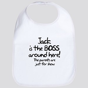 Jack is the Boss Bib