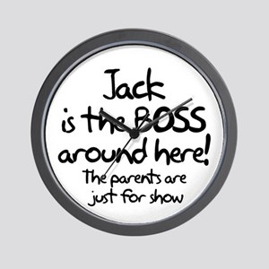 Jack is the Boss Wall Clock