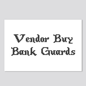 Vintage Online Gaming Vendor Buy Bank Guards Postc