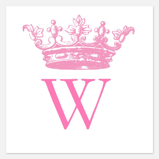 Vintage Crown Monogram Invitations