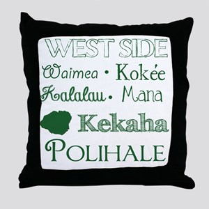 West Side Kauai Subway Art Throw Pillow