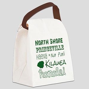 North Shore Kauai Subway Art Canvas Lunch Bag