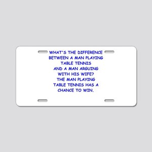 table tennis Aluminum License Plate
