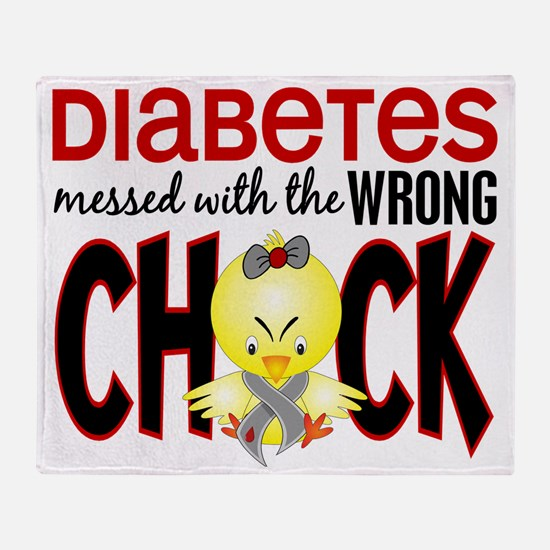 - Diabetes Messed With Wrong Chick Throw Blanket