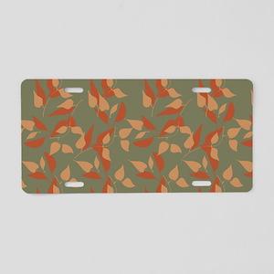 Modern Orange Green Design Aluminum License Plate