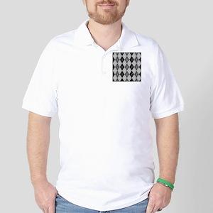 Black and Grays Argyle Golf Shirt