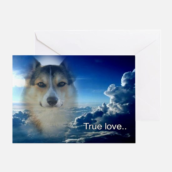Handsome Corgi Valentine Greeting Card
