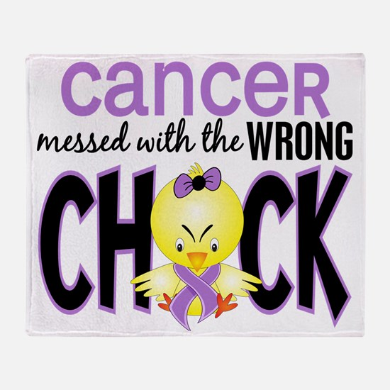 - Cancer Messed With Wrong Chick Throw Blanket