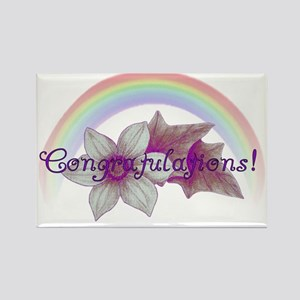 Rainbow Marriage Congratulations Rectangle Magnet