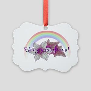 Rainbow Marriage Congratulations Picture Ornament