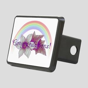 Rainbow Marriage Congratul Rectangular Hitch Cover